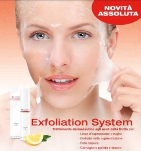 Trattamento exfoliation viso agli acidi della frutta